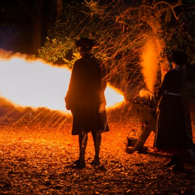 Cannon Fire at Brunswick Town Christmas Event